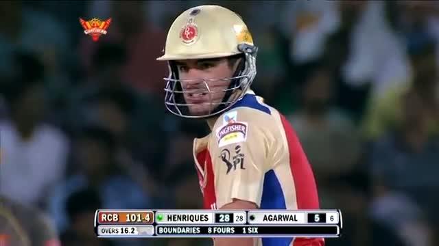 1st Inning Outstanding Batting by Moises Henriques - SH vs RCB - PEPSI IPL 6 - Match 7