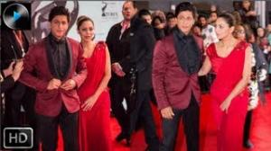 Shah Rukh Khan and Gauri Khan on the TOIFA Red Carpet