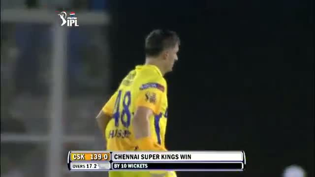 CSK thrash Punjab by 10-wicket Win - KXIP vs CSK - PEPSI IPL 6 - Match 11