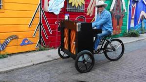 Man Rides His Piano Bike Through San Francisco