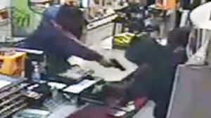 Clerk Turns the Table on Robbers