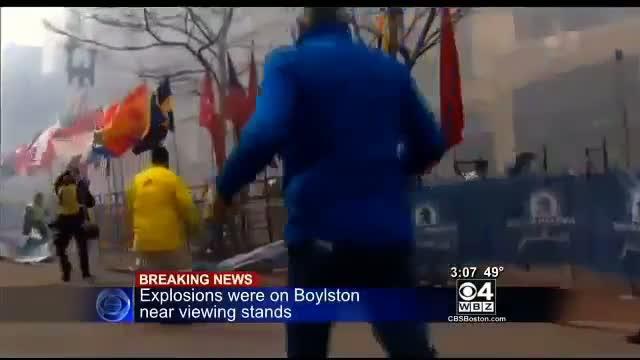 Live explosion - Boston Marathon 2013 (Pray, pray, pray)