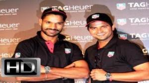 Suresh Raina and Shikhar Dhawan Unveiling TAG Heuer