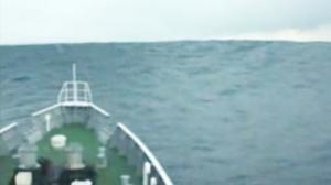 Ship Meets Tsunami Wave