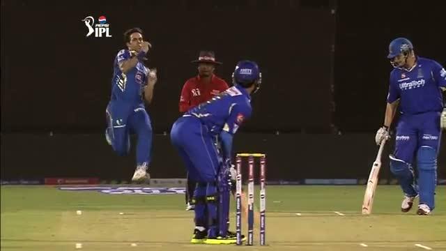 1st Inning Outstanding Batting by Ajinkya Rahane - RR vs MI - PEPSI IPL 6 - Match 23