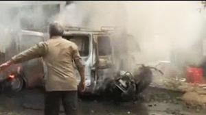 Bangalore Blast: Seconds after blast at Bangalore office of BJP