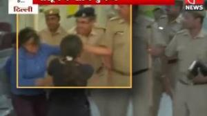 Police officer Suspended for Slapping Woman Protester