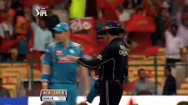 Fours hit by RCB - RCB vs PW - PEPSI IPL 6 - Match 31