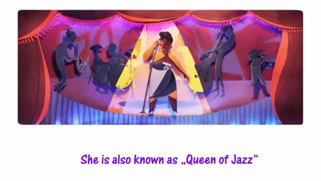 Ella Fitzgerald's 96th Birthday - Google Doodle