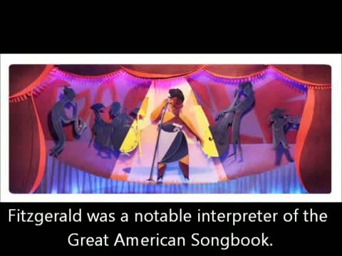 Ella Fitzgerald's 96th Birthday Google Doodle - 25th April 2013