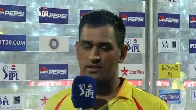 MS Dhoni & Cameron White in Post Match Interview - CSK vs SH - PEPSI IPL 6 - Match 34
