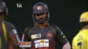 Shikhar Dhawan's gutsy Half-Century: 1st Inning - CSK vs SH - PEPSI IPL 6 - Match 34
