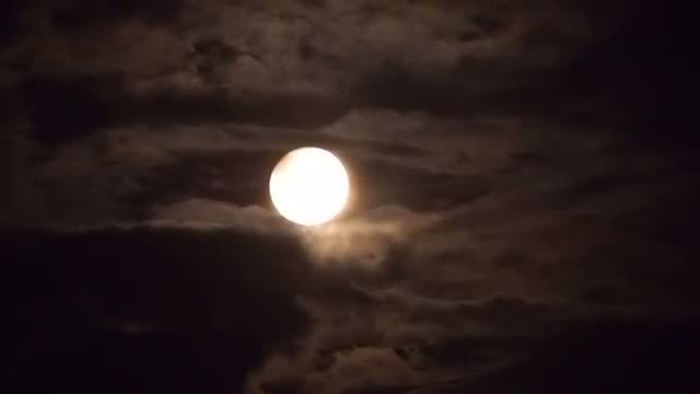 Two Percent Partial Lunar Eclipse Hamburg