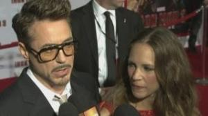 Iron Man 3 Premiere: Robert Downey Jr talks about the Iron Man suit and special effects