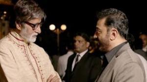 Kamal Haasan & Amitabh Bachchan with Steven Spielberg at 'Lincoln' premiere