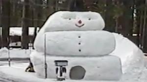 Giant Snowman Slide