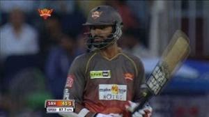 Shikhar Dhawan slams Half-Century - SH vs MI - PEPSI IPL 6 - Match 43