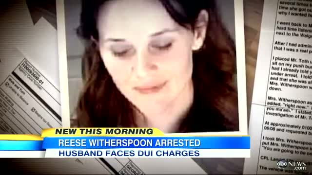 Reese Witherspoon Mug Shot, Arrest 2013: Actress, Husband Arrested for DUI, Disorderly Conduct