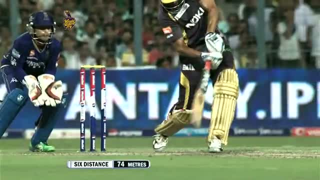 2nd Inning Outstanding Batting by Yusuf Pathan - KKR vs RR - PEPSI IPL 6 - Match 47