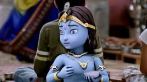 Main Krishna Hoon Movie Scene - Lord Krishna Befriends Orphan Krishna