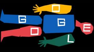 Google Doodles for ace graphic designer Saul Bass on his 93rd birthday