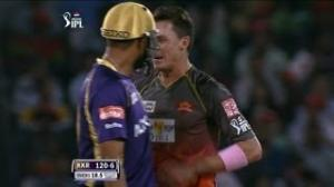 Face Off between Yusuf Pathan and Dale Steyn - SH vs KKR - PEPSI IPL 6 - Match 72