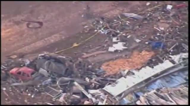 Aerials Show Path of Oklahoma Destruction