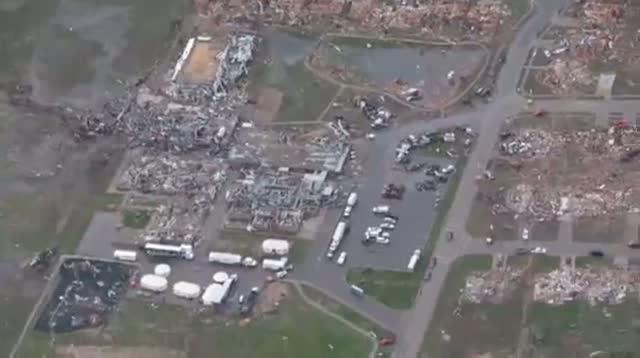 Aerial View of Moore Tornado Damage