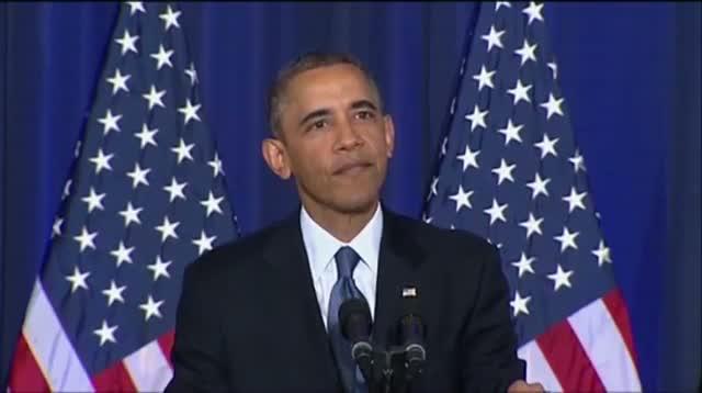 Heckler Interrupts Obama on Guantanamo