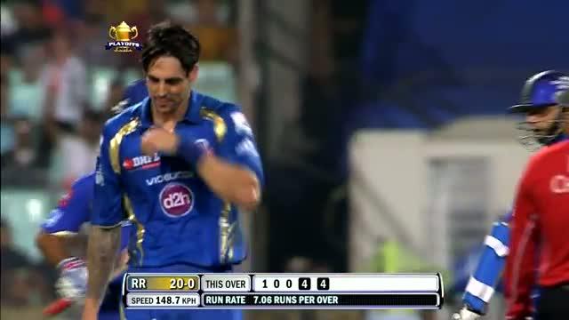 Mitchell Johnson trying to sledge Rahul Dravid - RR vs MI - PEPSI IPL 6 - Qualifier 2