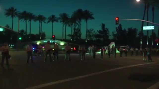 Demonstrators Greet Chinese President in Calif.