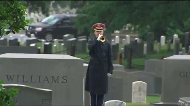 Sen. Lautenberg Buried in Arlington