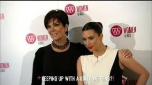 Kris Jenner Says No Kim & Kanye Wedding