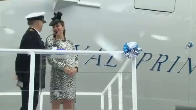 Kate Middleton Names new Royal Princess Cruise Ship in last engagement before Royal Baby is Due