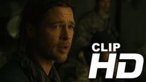 """'World War Z' """"No Place Doing Well"""" Official Clip - Brad Pitt [HD]"""