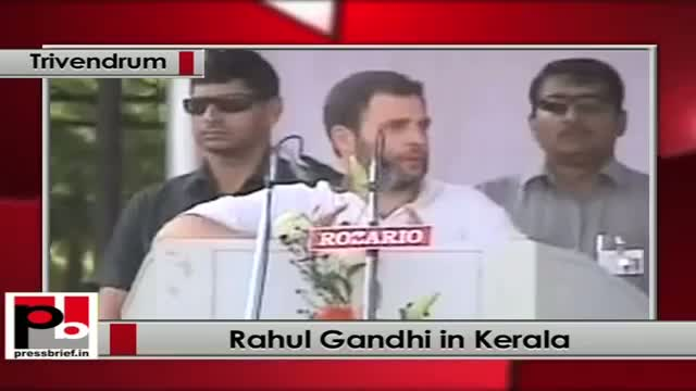 Rahul Gandhi addresses a Congress Rally in Kerala; assures all help of Centre