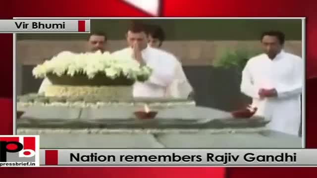 Nation pays homage to Rajiv Gandhi on his 22nd death anniversary