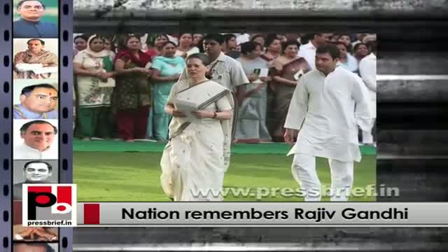 Prez, PM, Sonia Gandhi, Rahul Gandhi pay homage to Rajiv Gandhi on his death anniversary
