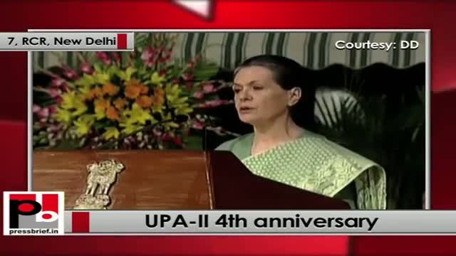 Sonia Gandhi at UPA-II 4th anniversary: Country is better connected now with roads and mobiles