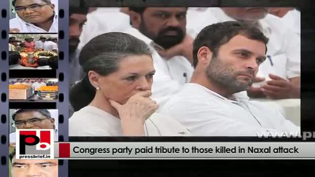 Chhattisgarh naxal attack: Congress party paid tribute to those killed in Naxal attack