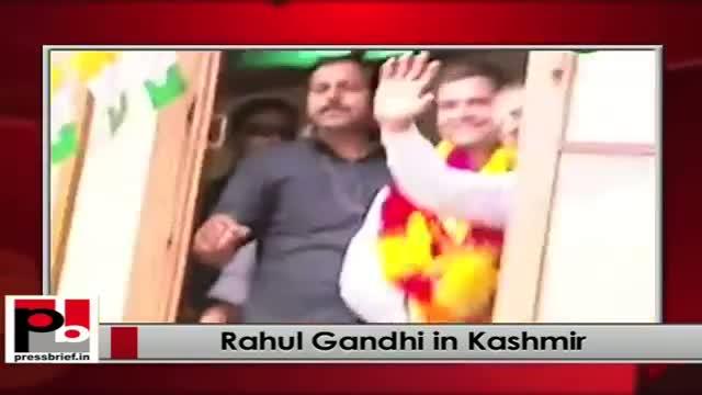 Rahul Gandhi at visit Budgam in Jammu Kashmir