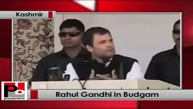 Rahul Gandhi in Budgam (Kashmir), 15th June 2013