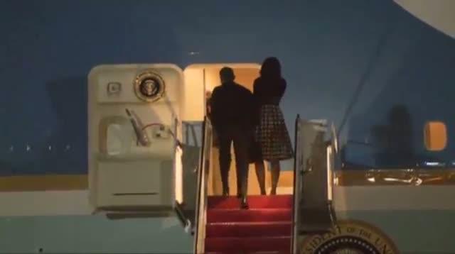 President Obama and Family Depart for G8