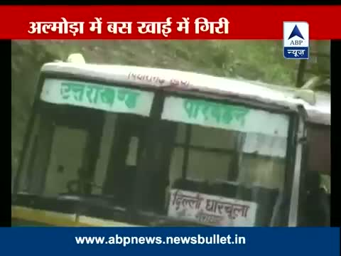 Monsoon fury: Bus falls into a gorge in Almora