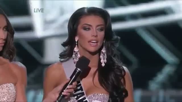 2013 Miss Utah Marissa Powell Messes Up Miss USA Question Big Time!