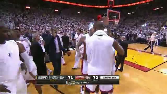 NBA: Mario Chalmers buzzer-beating bank shot in Game 7!