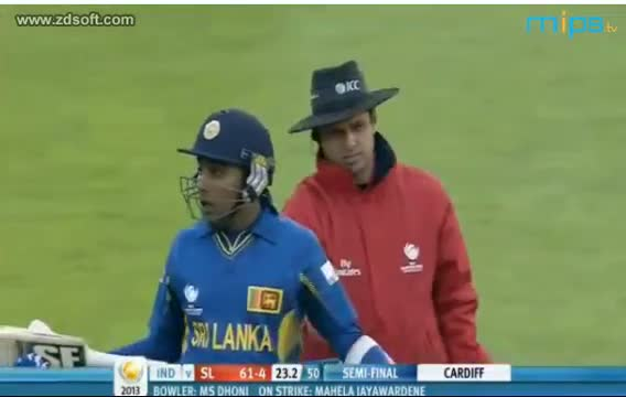 MS Dhoni First Ever Bowling In Champions Trophy 2013 IND vs SL 20 June 2013 Highlights