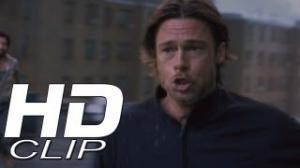 """World War Z Clip """"Rooftop"""" Official - Brad Pitt"""