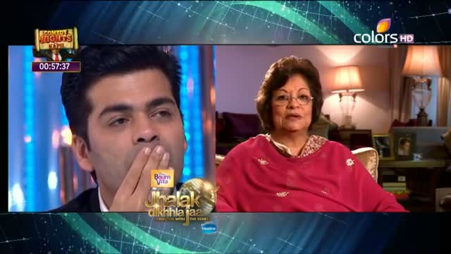 Jhalak Dikhhla Jaa - 22 June 2013 (Season 6) - Episode 7 - Hiroo Johar's message to Karan Johar