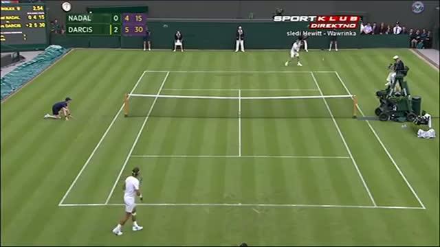 Steve Darcis beats Rafael Nadal 1st Round - Wimbledon 2013
